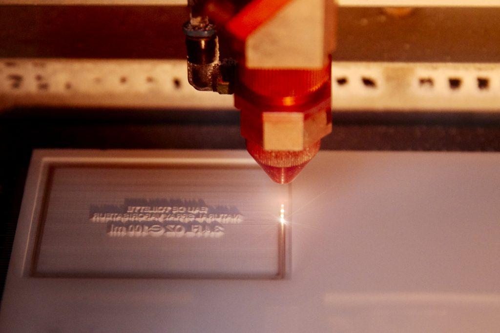Pigment Grafiti - Maquettes packaging - Découpe Laser