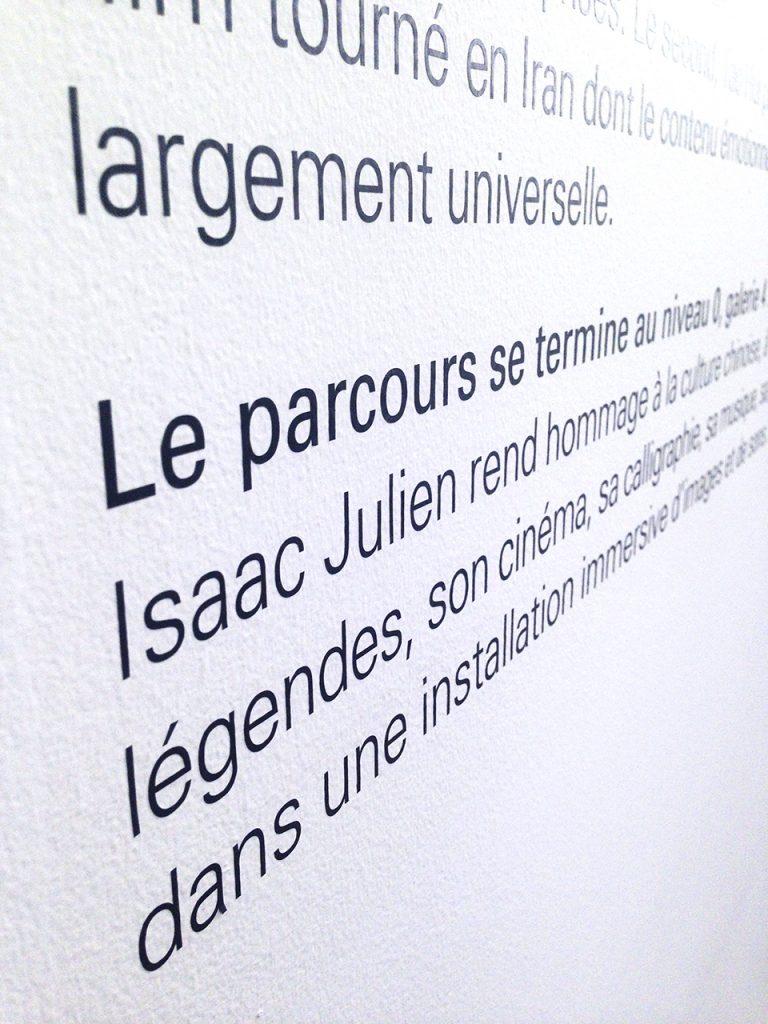 Pigment Grafiti - Cartels musées - Transferts à sec