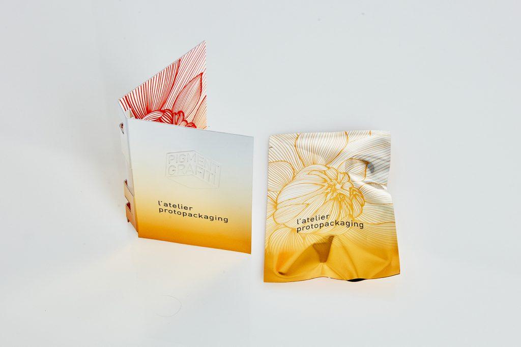 Packaging échantillons de parfum - Prototypes samplers - Impression sur carton - Montage spécifique - Impression sur métal