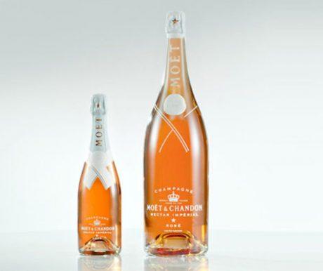 Moët & Chandon - Louis Vuitton : Impression directe sur les bouteilles, coiffe ajourée découpée